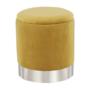Kép 13/23 - DARON Puff,  arany Velvet anyag/ezüst króm