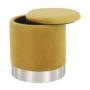 Kép 14/23 - DARON Puff,  arany Velvet anyag/ezüst króm