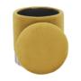 Kép 15/23 - DARON Puff,  arany Velvet anyag/ezüst króm