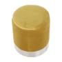 Kép 16/23 - DARON Puff,  arany Velvet anyag/ezüst króm