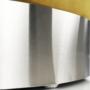 Kép 18/23 - DARON Puff,  arany Velvet anyag/ezüst króm