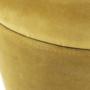 Kép 23/23 - DARON Puff,  arany Velvet anyag/ezüst króm