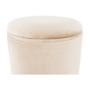 Kép 27/32 - AIGUL Kettes puff szett,  barna/ezüst króm és bézs/ezüst króm [SET]