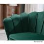 Kép 2/13 - NOBLIN Art-deco desing fotel,   smaragd bársony szövet/arany króm- arany