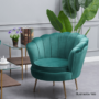 Kép 3/30 - NOBLIN Art-deco desing fotel,   smaragd bársony szövet/arany króm- arany