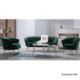 Kép 4/13 - NOBLIN Art-deco desing fotel,   smaragd bársony szövet/arany króm- arany