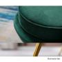 Kép 7/13 - NOBLIN Art-deco desing fotel,   smaragd bársony szövet/arany króm- arany