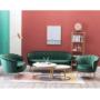 Kép 9/13 - NOBLIN Art-deco desing fotel,   smaragd bársony szövet/arany króm- arany