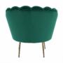 Kép 16/30 - NOBLIN Art-deco desing fotel,   smaragd bársony szövet/arany króm- arany