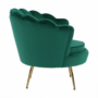 Kép 17/30 - NOBLIN Art-deco desing fotel,   smaragd bársony szövet/arany króm- arany