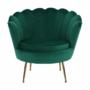 Kép 19/30 - NOBLIN Art-deco desing fotel,   smaragd bársony szövet/arany króm- arany