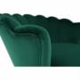 Kép 23/30 - NOBLIN Art-deco desing fotel,   smaragd bársony szövet/arany króm- arany