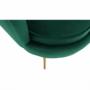 Kép 25/30 - NOBLIN Art-deco desing fotel,   smaragd bársony szövet/arany króm- arany