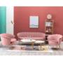 Kép 28/29 - NOBLIN Art-deco desing fotel,  rózsaszín bársony szövet/arany króm- arany