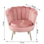Kép 29/29 - NOBLIN Art-deco desing fotel,  rózsaszín bársony szövet/arany króm- arany