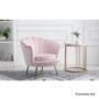 Kép 2/29 - NOBLIN Art-deco desing fotel,  rózsaszín bársony szövet/arany króm- arany