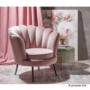 Kép 7/29 - NOBLIN Art-deco desing fotel,  rózsaszín bársony szövet/arany króm- arany