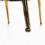 Kép 15/29 - NOBLIN Art-deco desing fotel,  rózsaszín bársony szövet/arany króm- arany