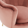 Kép 16/29 - NOBLIN Art-deco desing fotel,  rózsaszín bársony szövet/arany króm- arany