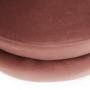 Kép 19/29 - NOBLIN Art-deco desing fotel,  rózsaszín bársony szövet/arany króm- arany