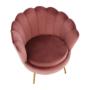 Kép 23/29 - NOBLIN Art-deco desing fotel,  rózsaszín bársony szövet/arany króm- arany