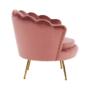 Kép 25/29 - NOBLIN Art-deco desing fotel,  rózsaszín bársony szövet/arany króm- arany