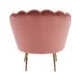Kép 26/29 - NOBLIN Art-deco desing fotel,  rózsaszín bársony szövet/arany króm- arany