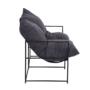 Kép 3/6 - DEKER Dupla ülés-fotel,   szürke szövet/fekete