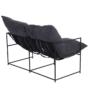 Kép 5/6 - DEKER Dupla ülés-fotel,   szürke szövet/fekete