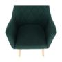 Kép 2/15 - EKIN Fotel,  smaragd színű/bükk