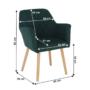 Kép 4/15 - EKIN Fotel,  smaragd színű/bükk