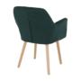 Kép 7/15 - EKIN Fotel,  smaragd színű/bükk