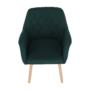 Kép 9/15 - EKIN Fotel,  smaragd színű/bükk