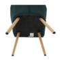 Kép 12/15 - EKIN Fotel,  smaragd színű/bükk