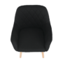Kép 11/16 - EKIN Fotel,  fekete/bükk