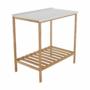 Kép 2/16 - SELENE Polcos kisasztal,  természetes/fehér [TYP 5]