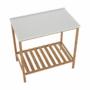 Kép 4/16 - SELENE Polcos kisasztal,  természetes/fehér [TYP 5]