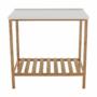 Kép 5/16 - SELENE Polcos kisasztal,  természetes/fehér [TYP 5]