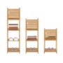 Kép 14/16 - SELENE Polcos kisasztal,  természetes/fehér [TYP 5]