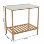 Kép 16/16 - SELENE Polcos kisasztal,  természetes/fehér [TYP 5]