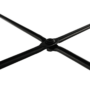 Kép 13/18 - MARIME Puff,  Velvet anyag szürke/fekete