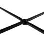 Kép 16/18 - MARIME Puff,  Velvet anyag szürke/fekete