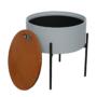 Kép 3/26 - MOSAI kisasztal, szürke/természetes/fekete