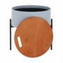 Kép 9/26 - MOSAI kisasztal, szürke/természetes/fekete