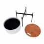 Kép 13/26 - MOSAI kisasztal, szürke/természetes/fekete