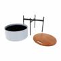 Kép 14/26 - MOSAI kisasztal, szürke/természetes/fekete