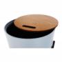 Kép 23/26 - MOSAI kisasztal, szürke/természetes/fekete