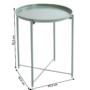 Kép 4/32 - TRIDER Kisasztal levehető tálcával,  zöld