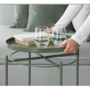 Kép 7/32 - TRIDER Kisasztal levehető tálcával,  zöld