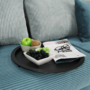 Kép 6/22 - RENDER Kisasztal levehető tálcával,  fekete